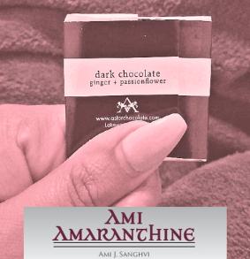 Chocolate with logo in amaranthine